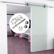 Hardware de puerta de granero de ducha deslizante interior de acero inoxidable, 6,6 pies