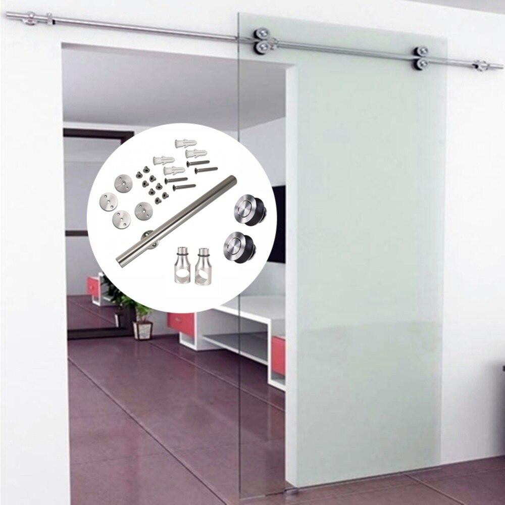 Herrajes para puerta de Granero, ducha corredera interior de acero inoxidable de 6,6 pies