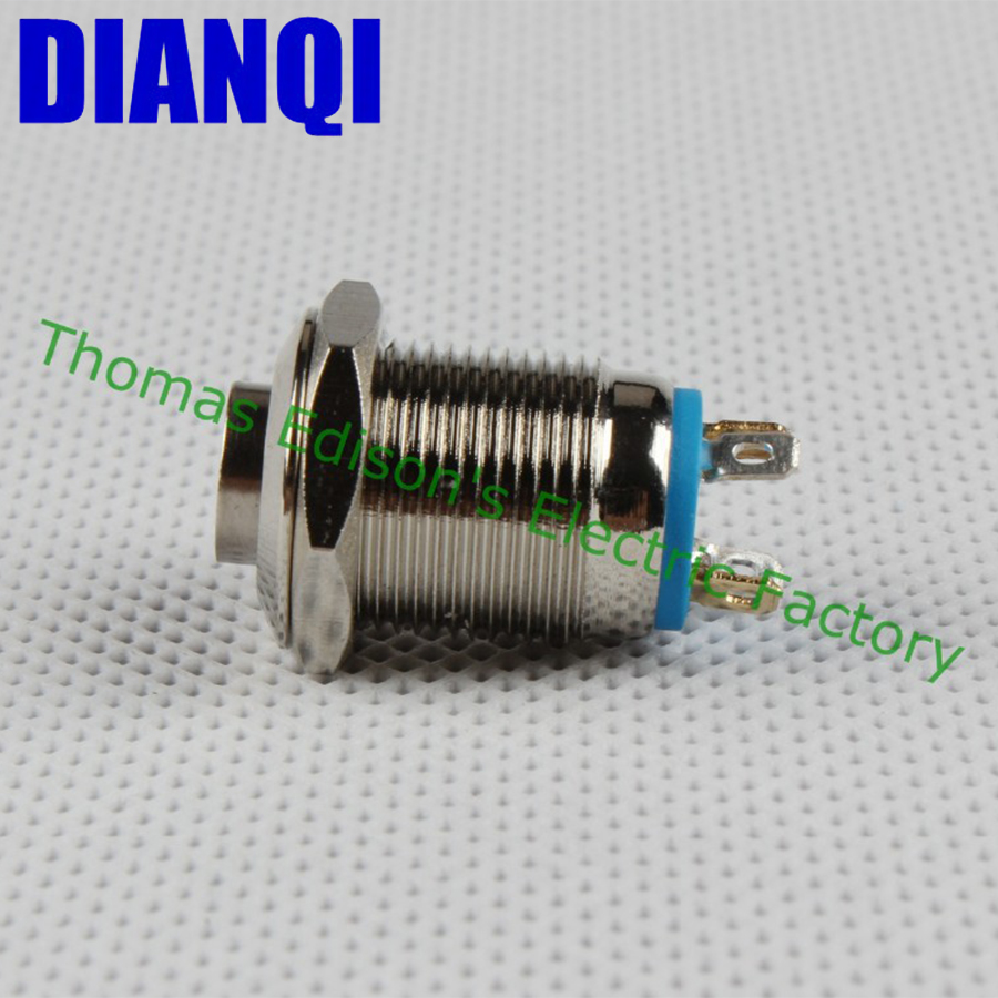 High quality 5pcs 12mm metal push button waterproof brass button switch ring-illuminated flat shape Latching 12HX.GT,S.K