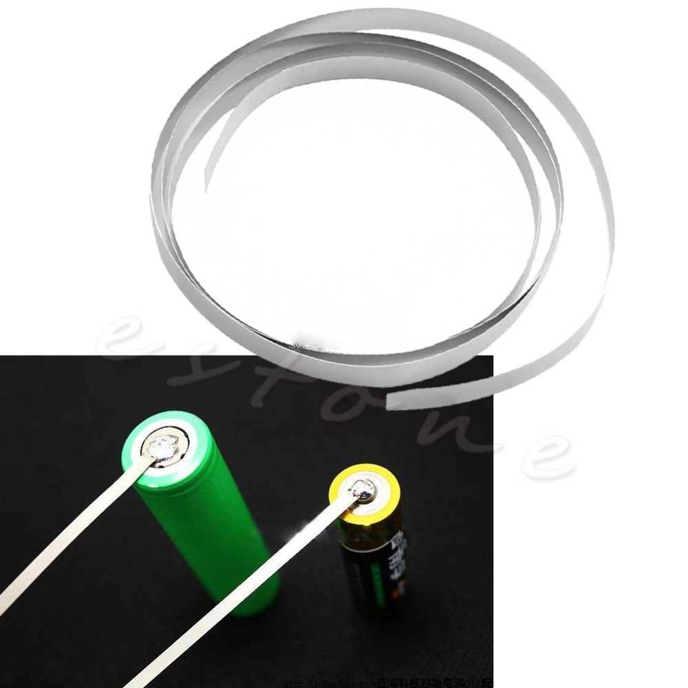 YIKAA Ni Plated Nickel Strip Tape 1M 8mm x 0.15 For Li 18650 Battery Spot Welding 2 meter tape 8mm x 0 15mm spcc pure ni plate nickel strip tape strap for battery welding diy pack assembly popular