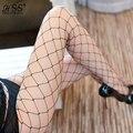 Medias de las mujeres Divertidas medias de malla Sexy medias de Rejilla de Alambre Invisible Transparente de estilo Fino de las medias Sexy Tentación ropa interior