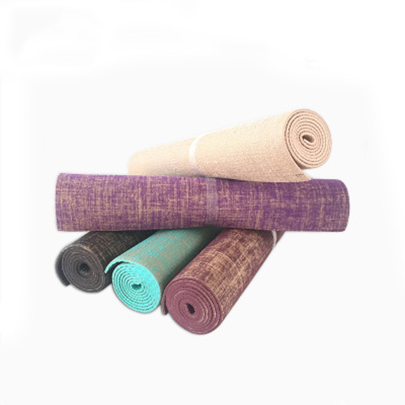 Organic Jute Natural Jute Pvc Yoga Mat Nature Yoga Mat Free Shipping Hot Sale Thickness 6mm Linen Material Yoga Mat 173 61cm 6mm Chloe S Store
