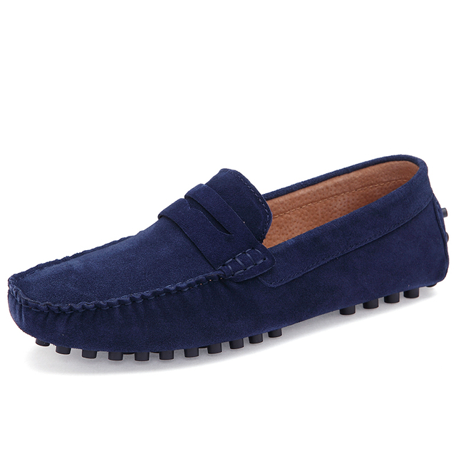 New 2016 Men Genuine Leather Flats Fashion Men Casual Shoes Moccasins Loafers Quality Suede Drivng Shoes Zapatos