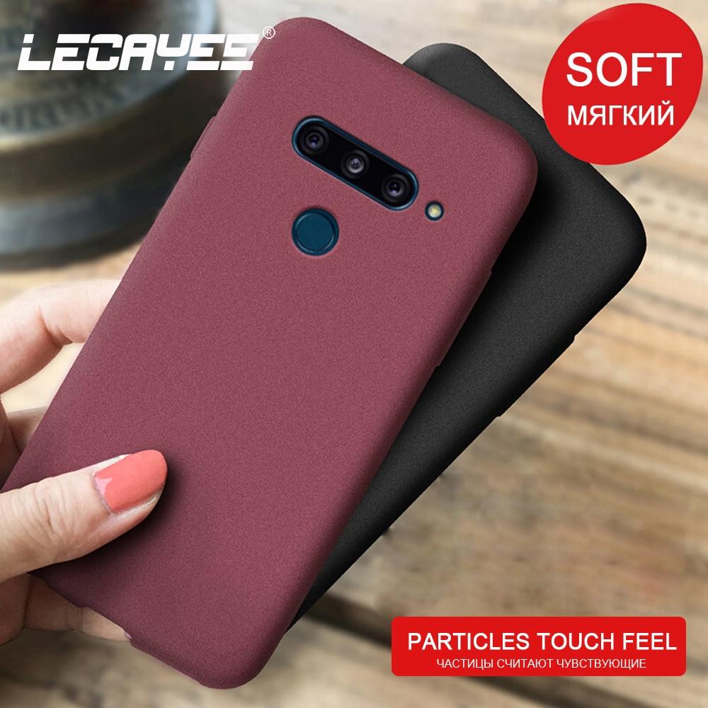 LECAYEE Granular Matte Non-slip Phone Case For LG V40 V30 G5 Se G6 G7 G8 K40 K20 Plus TPU Soft Cover Protective Case Back
