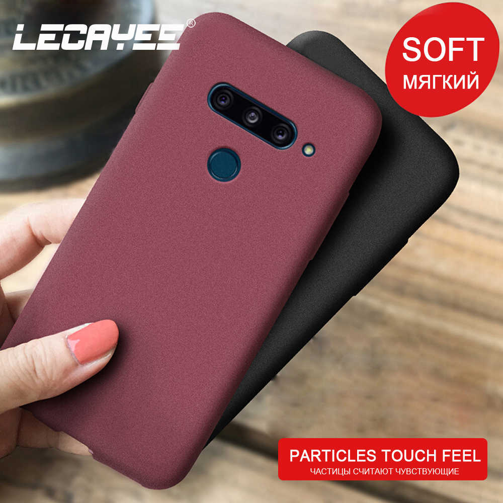 LECAYEE Granular Matte non-slip Phone Case for LG V40 v30 g5 se g6 g7 g8 k40 k20 plus TPU Soft Cover Protective Case Back