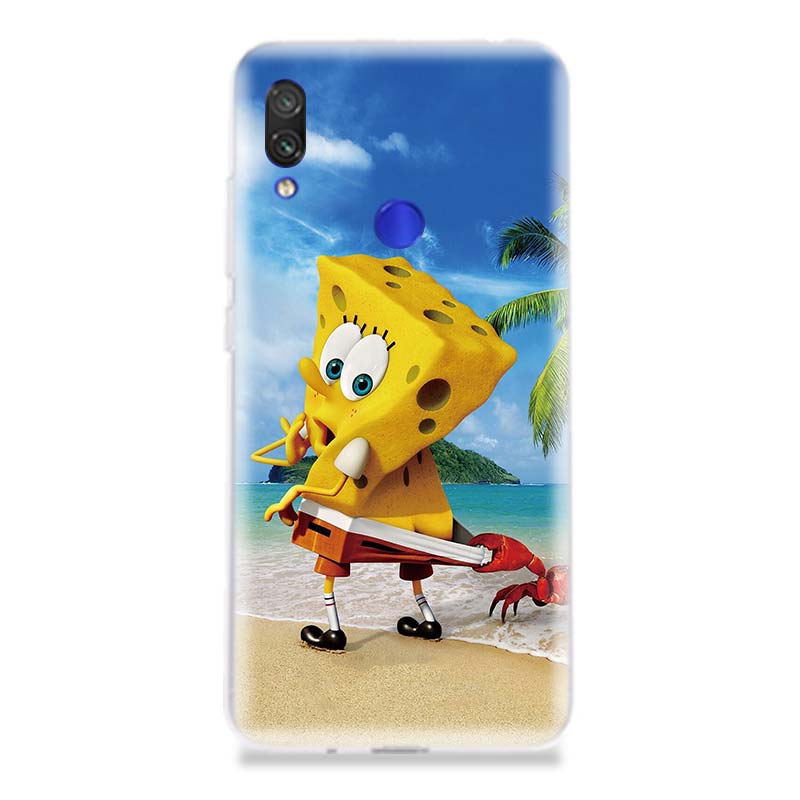 SquarePants Cartoon Phone Case for Xiaomi Redmi S2 Y3 Y2 Note 7 7S 6 5 Pro 4 4X Mi Pocophone F1 9 8 A2 Lite Pattern Cover Coque in Half wrapped Cases from Cellphones Telecommunications