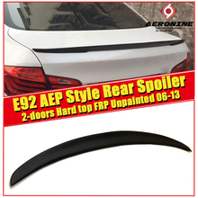 Fit For BME E92 P style High kick Trunk spoiler wing FRP Unpainted 3 series 2 doors hard top 335i 328i rear 2006-13