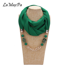LaMaxPa New Design Pendant Scarf For Women Accessories Hijab Femme Elegant Pendants EP Resin Alloy Girl
