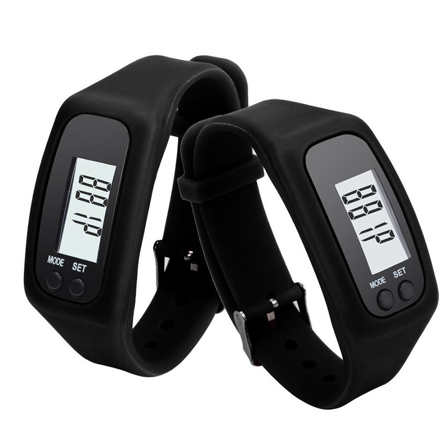 Long-life Battery Multifunction 6 Colors Digital LCD Pedometer Run Step Calorie Walking Distance Counter Smart Sports Bracelet