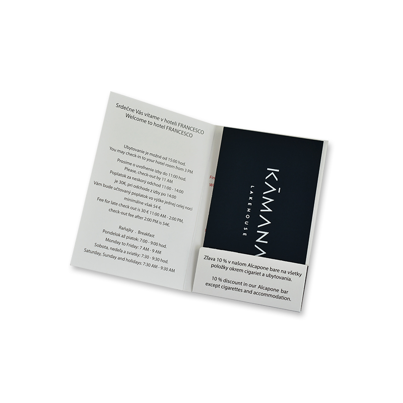 Zuoluo Black Hotel Key Card Holders With Custom Gold Foiling Logo