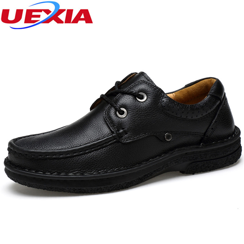 Dad Men Shoes Father Casual Winter Slip On Oxford Handmade Lace-up Cow Leather Outdoor Sport Luxury Warm Plush Inside Large size zjnnk hot sale genuine leather men casual shoes black brown men flats handmade men father shoes lace up men shoes dropship h825