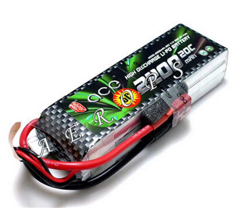 Aerops ACE 3s 11.1V 2200mAh 20C 25C RC Airplane Lipo Battery with XT60 Connector Deans T Plug for F450 F550 Multi Quadcopter