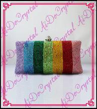 Aidocrystal Regenbogen Streifen Clutch Bag Handgemachte Kristall abendtaschen