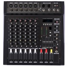 Good Quality Professional Amplifier Mixer with a USB Player can use Headphones can use connected to Phone can use 6 Microphones(China)