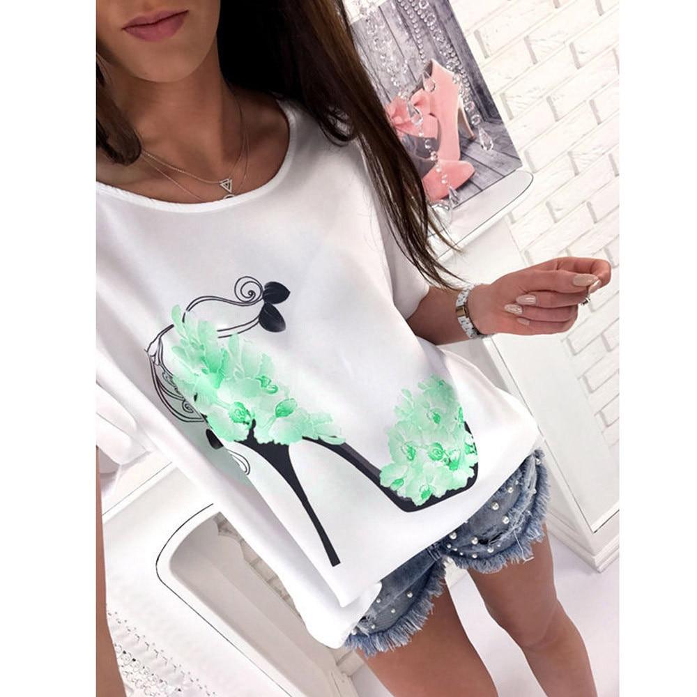 T-shirt manches courtes fleurs 3