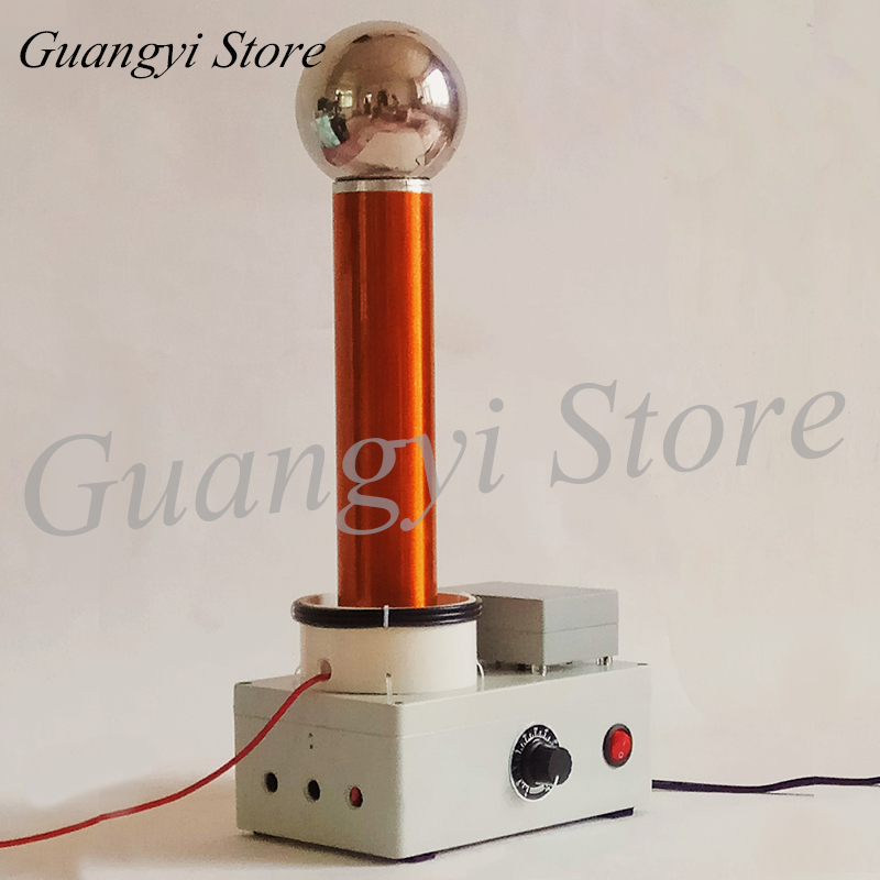 Demonstration of High Frequency AC Wireless Transmission Principle of Tesla Coil Spark Gap Lightning Simulator Air Conditioner Parts     - title=