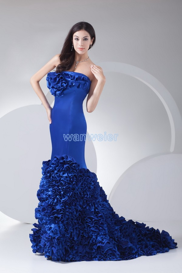 2016 new Natural Satin Special Offer Sale Carpet Royal gown Vestidos Plus Size Pageant Celebrity Clubwear Mermaid   Prom     Dresses