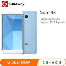 Orijinal Xiaomi Redmi Not 4X4 GB RAM 64 GB ROM Cep Telefonu Snapdragon 625 Octa Çekirdek 5.5