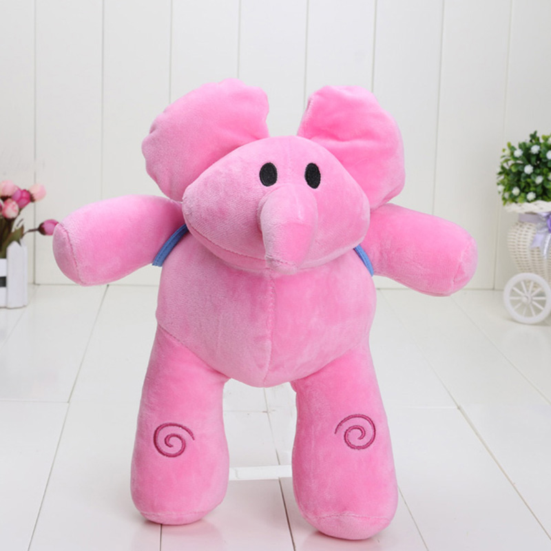 Pocoyo 25 см ELLY Pocoyo PATO Мягкие плюшевые Рисунок игрушки куклы о гибкой Слон милый розовый слон Розничная