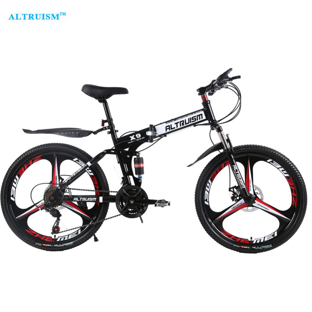 ALTRUISM X9 Pro Folding Bike Road Bicycles Steel 24 Speed 26 Inch Mountain Bisiklet Double Disc Brake Bikes Bicycle Bicicletas цены