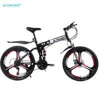 Altruísmo x9 pro bicicleta dobrável bicicletas de estrada aço 24 velocidade 26 Polegada mountain bisiklet freio a disco duplo bicicletas bicicletas