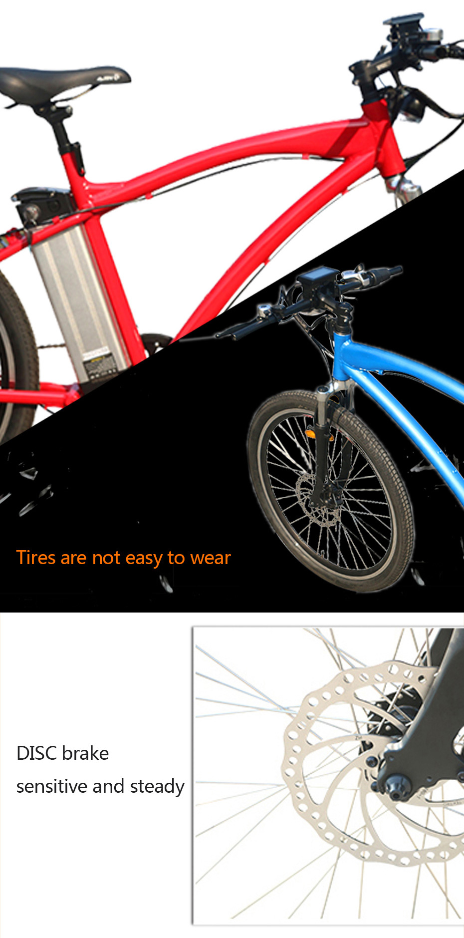 HTB1NTSWpqAoBKNjSZSyq6yHAVXaq - 48V 500W 26inch MTB Electrical Bike 48V 12Ah Lithium Battery Mountain Aluminum Alloy 45km/h Quick Velocity 26'' 2.125 Tire LCD Show