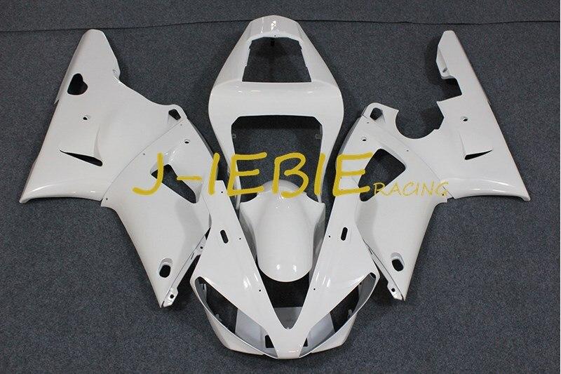 White Injection Fairing Body Work Frame Kit for Yamaha YZF 1000 R1 2000 2001