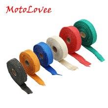 MotoLovee Цвет Термальность вытяжной лентой выхлопной трубы Обёрточная бумага заголовок термостойкие ткани для мотоциклов выхлопной Системы
