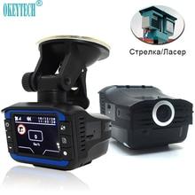 OkeyTech Mejor 2 En 1 Anti Detector de Radar Láser Car g-sensor DVR Registrador de la Cámara de 140 Grados de la Lente HD 720 P Ruso e Inglés versión