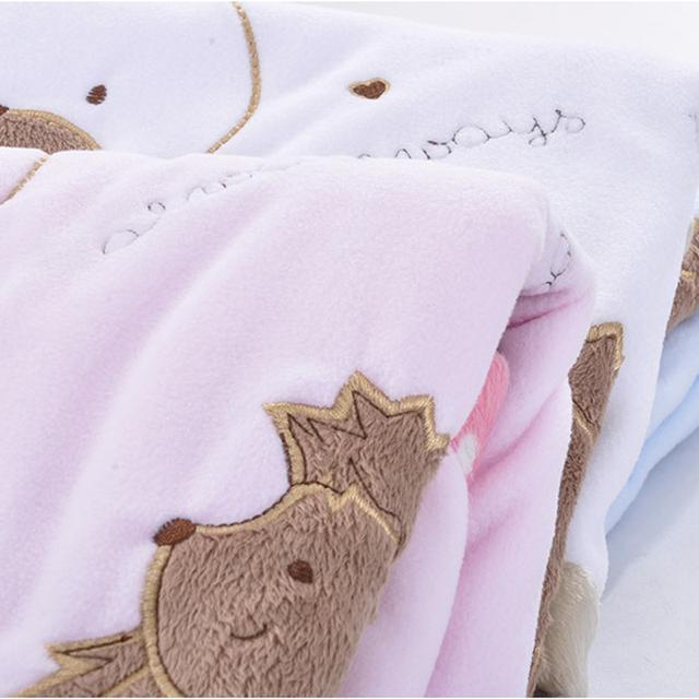 High Quality Soft Fleece Baby Blankets Winter Cartoon Infant Bebe Stroller Newborn Swaddle Wrap Blanket Baby Bedding Blanket