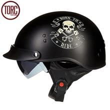 TORC Cruiser Motorcycle Helmet Harley Open Face Half Vintage Helmet T553 Moto Casque Casco motocicleta Capacete DOT Helmets