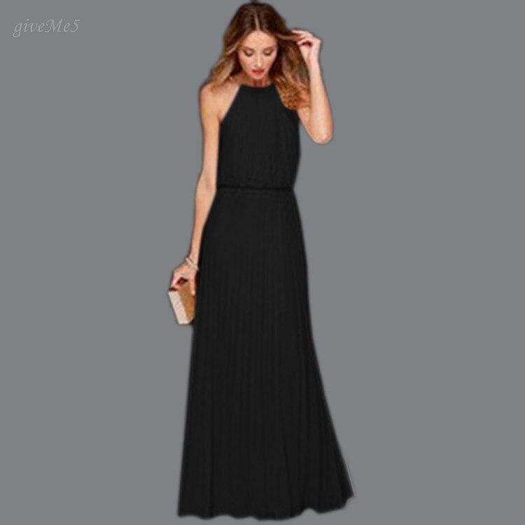 Stylish Luxury Women Summer Dess Sexy O-neck Sleeveless Hollow Out Long Maxi Dress