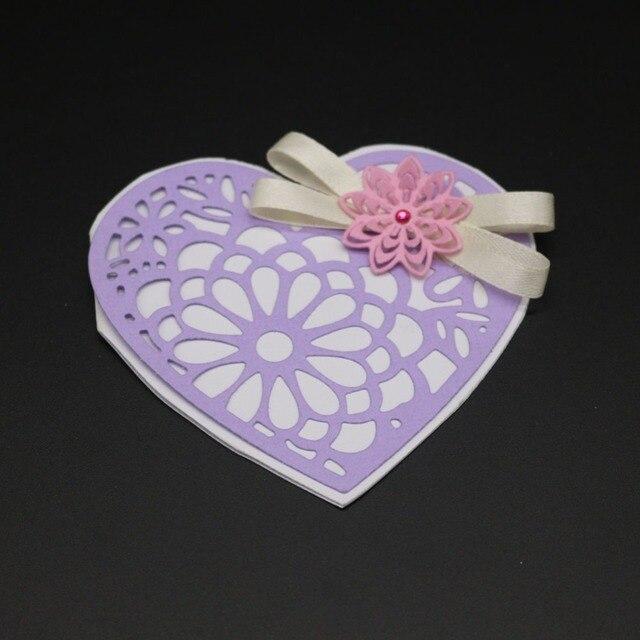 Ufurty metal Recortes de papel plantillas corazón flor diseño Marcos ...