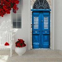 Vintage Wood Door 2pcs/set Creative Door Stickers Bedroom Home Decoration Poster PVC Waterproof Decal|Door Stickers|Home & Garden -