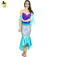 Sexy Adult Mermaid Tail Costumes Halloween Fancy Dress Romantic Beauty Dress Sea Maid Cosplay Party