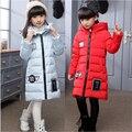 2016 новых детских пуховик девушки в длинный участок детская одежда большой пуховик Корейские девушки толстый слой