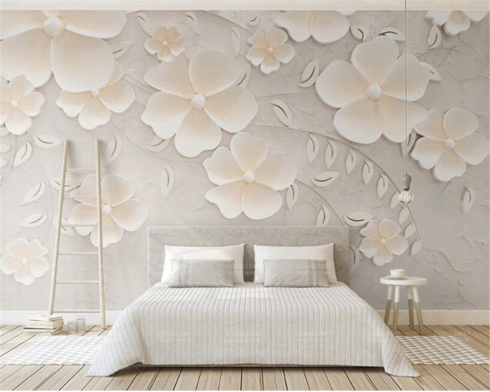 Beibehang Custom Wallpaper Beige Embossed Flowers 3d Bedroom Tv Interior Design Decoration Background Wall 3d Wallpaper Murals Aliexpress,Character Design Excited Poses Reference