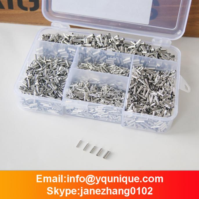 ФОТО 5000pcs Bootlace Ferrule Kit 0.5-2.5mm Non Insulated Terminal Electrical Crimp Cord Wire End  Ferrules  Free Shipping