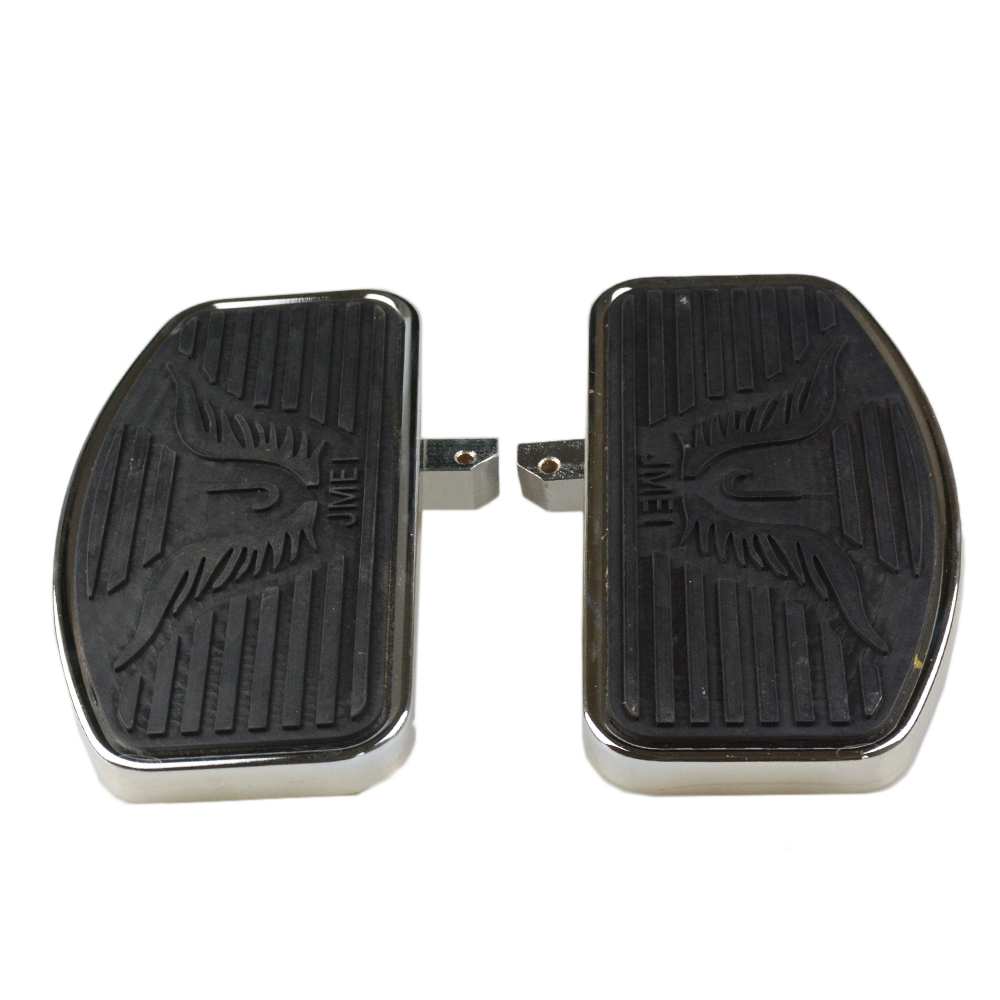 24MM Motorcycle Driver Front Rider Foot Pegs Floorboards Footboards For KAWASAKI Vulcan VN 800 400 Classic Custom Eagle Pattern 15cm saddle bag support bar bracket for kawasaki vulcan vn 800 800a classic custom