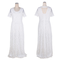 5xl 6xl Plus Size Women Lace Dress 2xl 9xl Summer Maxi Dress Dresses Big Size Clothing Vintage White Black Lace Dresses Elegant