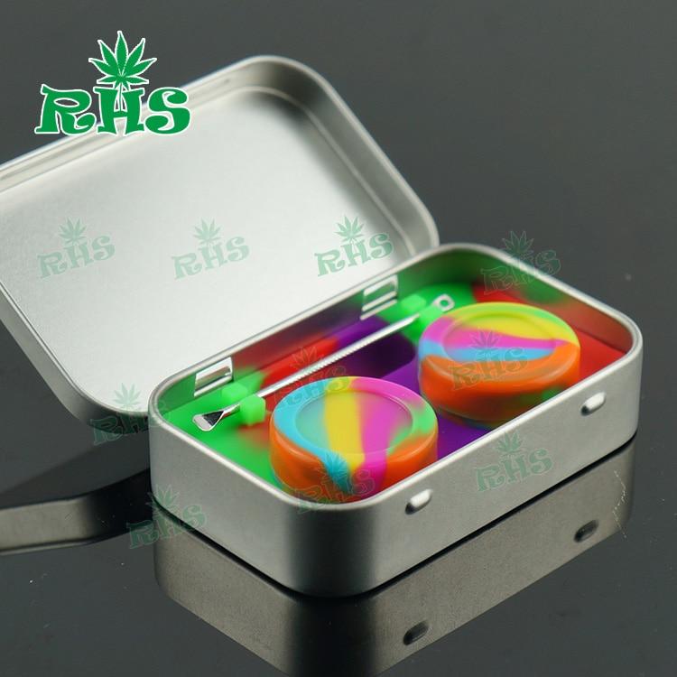 2 sets 10 ml Tin Box Wax Containers voor Dabs, non-stick Shatter - Home opslag en organisatie
