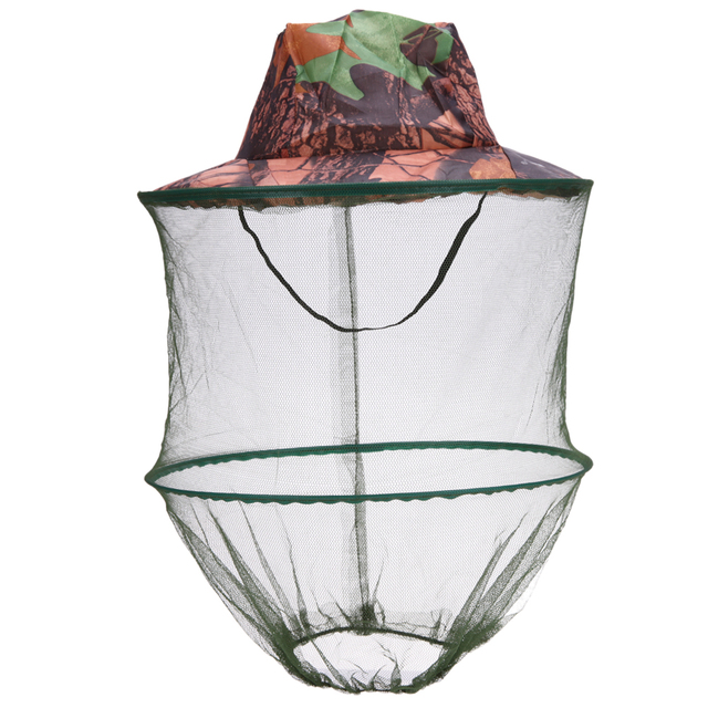 Camouflage Fishing Hat Bee keeping Insects Mosquito Net Prevention Cap Mesh Fishing Cap Outdoor Sunshade Lone Neck Head Cover 1