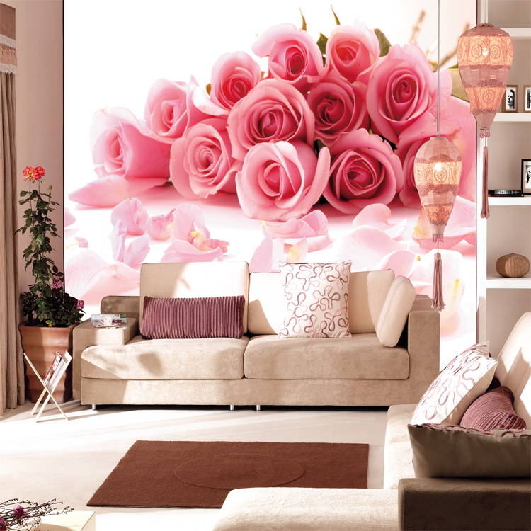 New Rose Can Customized Mural 3d Wallpaper Pvc Wall Stickers Child Cartoon Bedroom Wall Personalized Wall Painting Home Decor