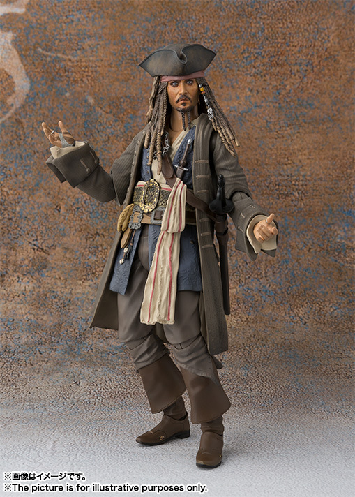 SHF S.H.Figuarts Figure Pirates of the Caribbean Jack Sparrow Action Doll Toys with Retail box 15cm ...