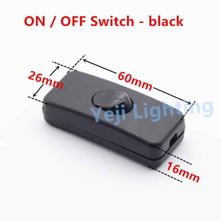 110v 230v 3a 303 Button Switch On Off Rocker Switch Knob Switch For Led Table Lamp Desk Light Black White Lighting Accessories