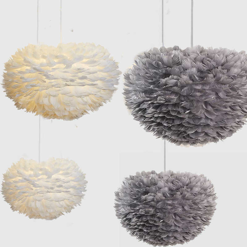Hot Modern Pendant Lights Feather Pendant Lamp Vintage Hanging Lamp Home Decor Lighting Fixture For Kitchen Bedroom Living Room
