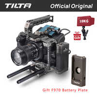 Tilta TA-T01-A-G Full Camera Cage Top Handle Wooden Side Handle F970 Battery Plate Partial Sunhood for BMPCC 4K Camera accessory