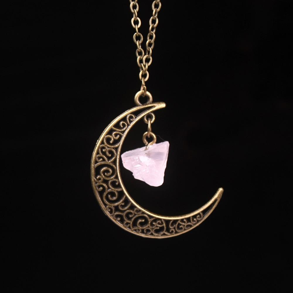 Vintage Galaxy Moon Kristal Aypara Bənövşəyi Qədim Tunc - Moda zərgərlik - Fotoqrafiya 4
