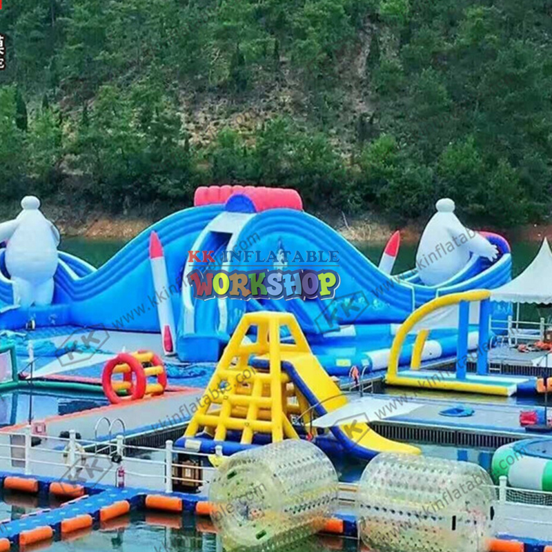 Inflatable Theme Floating Water Park KK Inflatable Custom-made Inflatable Water Park For Sale