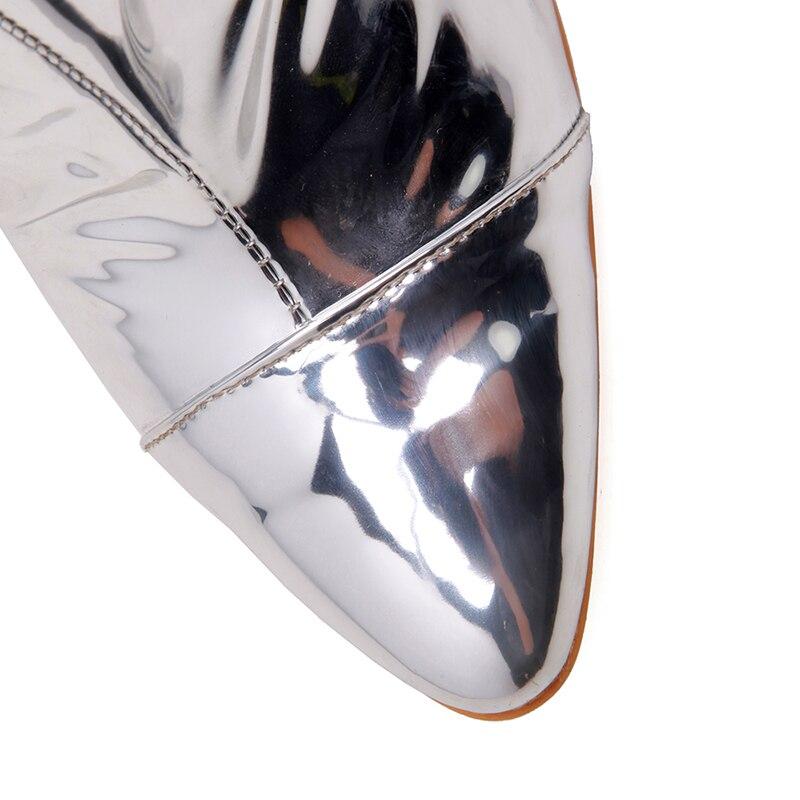 Sexy Nouveau Bottes Hauts Kcenid Cm Haute Pointu Fermeture Talons Sur Femme Argent Le Mode Bout Stilettos Genou Chaussures 12 Grandes Tailles À Glissière q7XdXrgaw
